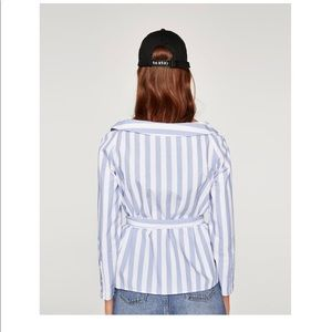 Zara Tops - Zara Stripped Blouse, ecologically grown Cotton S